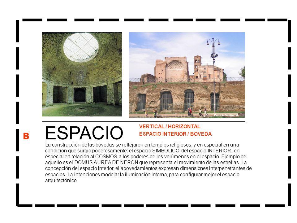 ESPACIO La construcción de las bóvedas se reflejaron en templos religiosos, y en especial en una condición que surgió poderosamente: el espacio SIMBOL