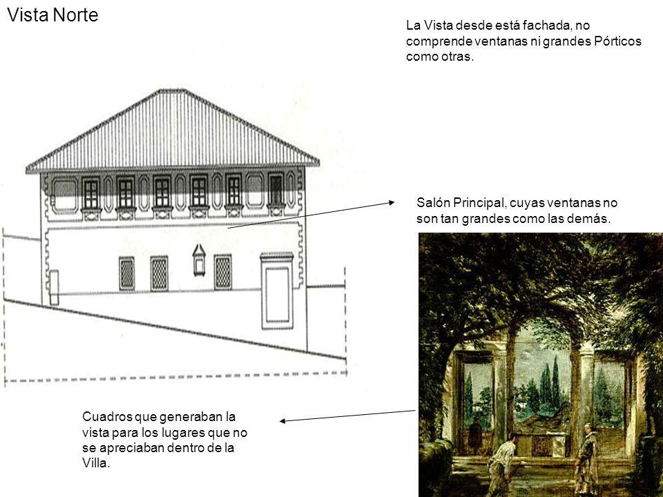 La Vista desde está fachada, no comprende ventanas ni grandes Pórticos como otras. Salón Principal, cuyas ventanas no son tan grandes como las demás.