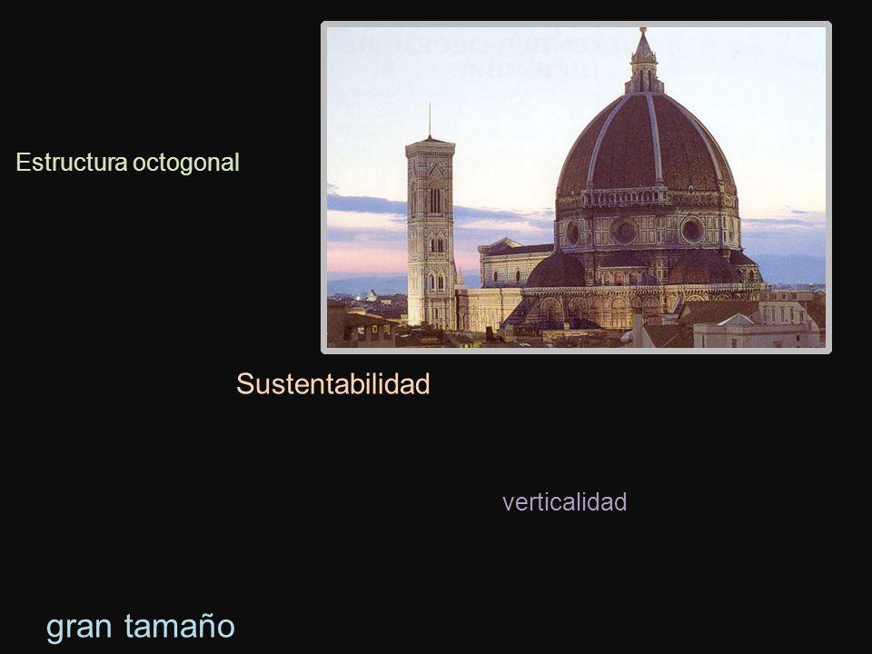 Estructura octogonal Sustentabilidad verticalidad gran tamaño