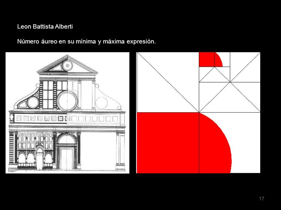 17 Leon Battista Alberti Número áureo en su mínima y máxima expresión.