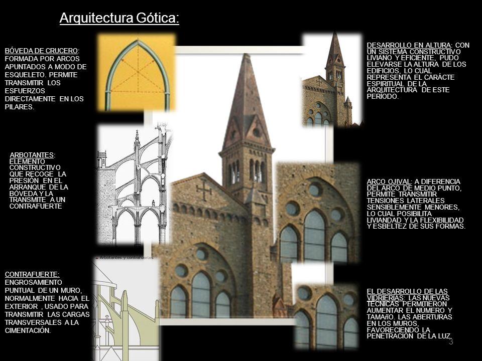 3 Arquitectura Gótica: DESARROLLO EN ALTURA: CON UN SISTEMA CONSTRUCTIVO LIVIANO Y EFICIENTE, PUDO ELEVARSE LA ALTURA DE LOS EDIFICIOS, LO CUAL REPRES