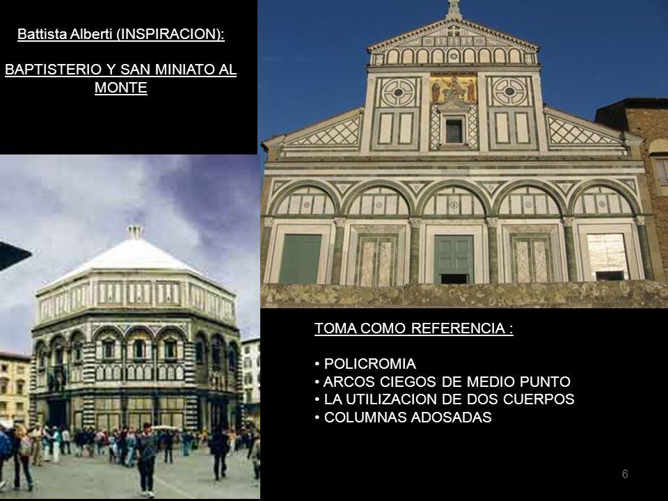 Battista Alberti y sus estatutos: Templo San Francisco Santa Maria Novella Ventanales elevados.