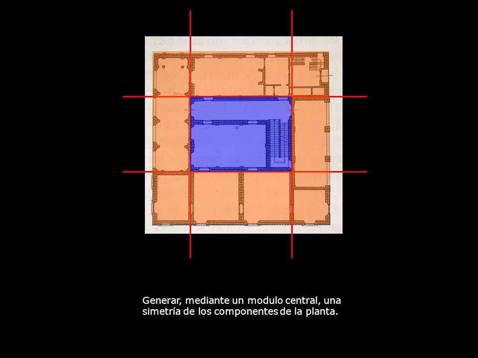 Generar, mediante un modulo central, una simetría de los componentes de la planta.