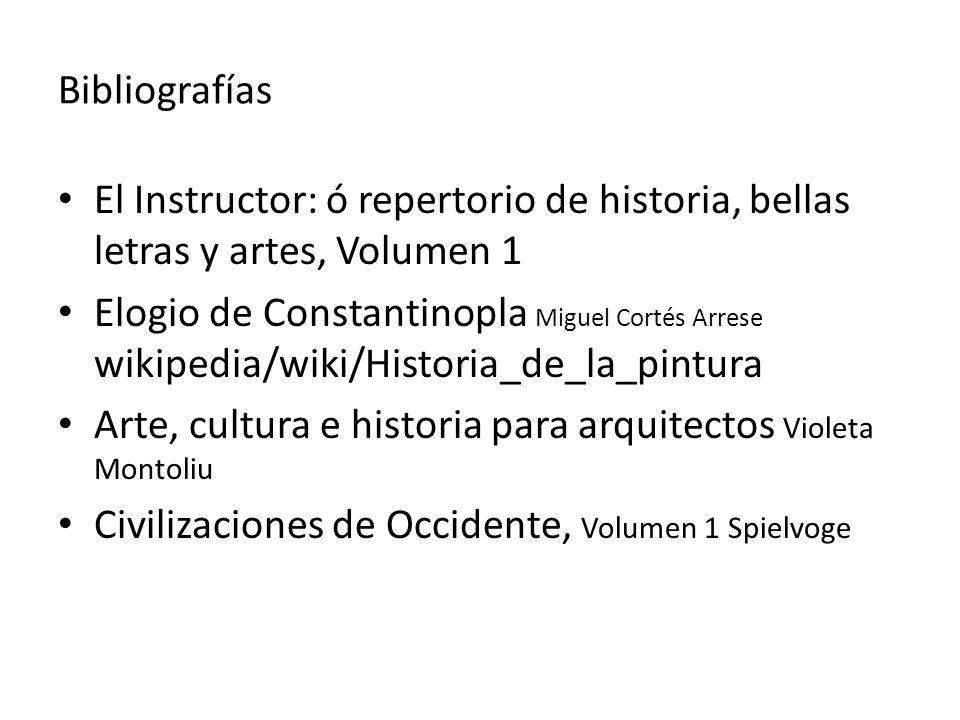 Bibliografías El Instructor: ó repertorio de historia, bellas letras y artes, Volumen 1 Elogio de Constantinopla Miguel Cortés Arrese wikipedia/wiki/H