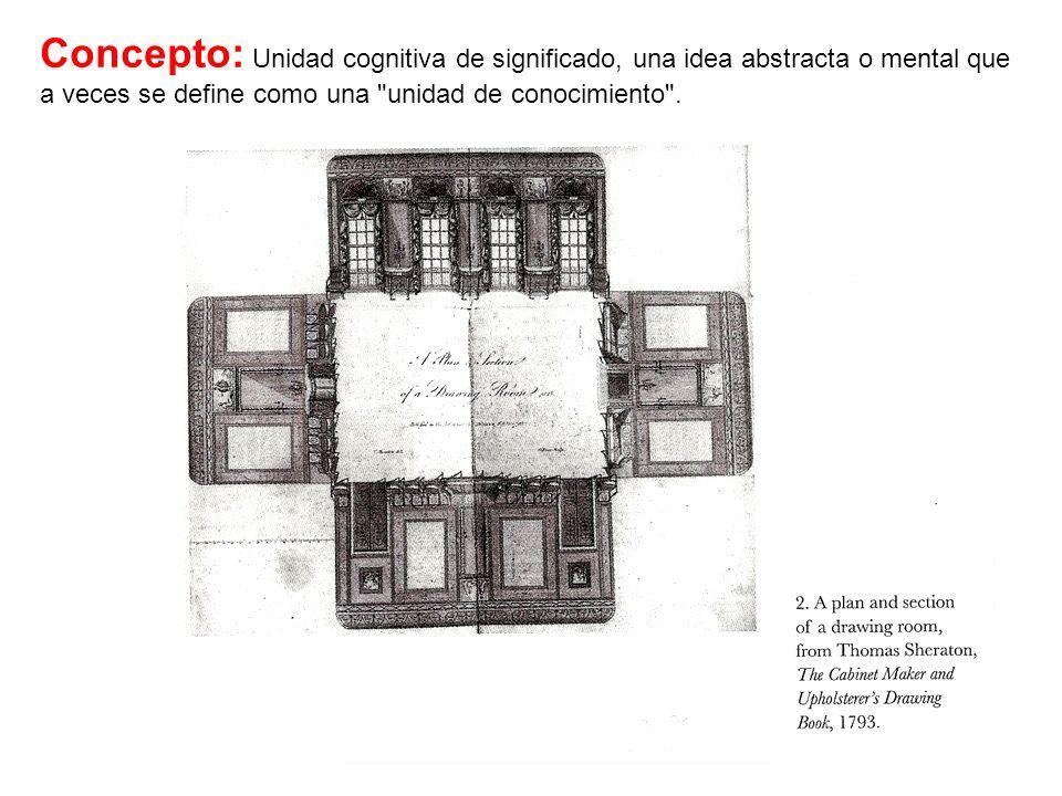 Concepto: Unidad cognitiva de significado, una idea abstracta o mental que a veces se define como una