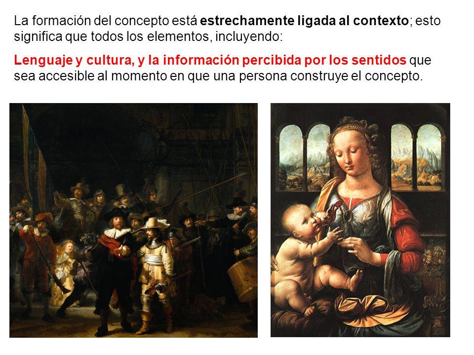 La formación del concepto está estrechamente ligada al contexto; esto significa que todos los elementos, incluyendo: Lenguaje y cultura, y la informac