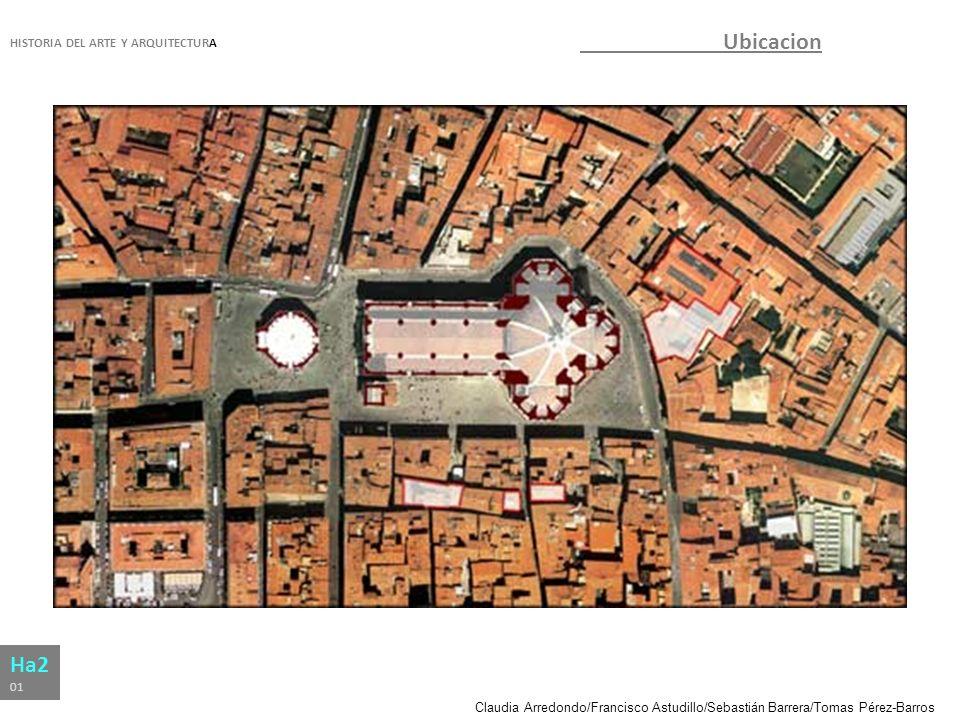 Claudia Arredondo/Francisco Astudillo/Sebastián Barrera/Tomas Pérez-Barros HISTORIA DEL ARTE Y ARQUITECTURA Ha2 01 Ubicación Florencia, Italia.