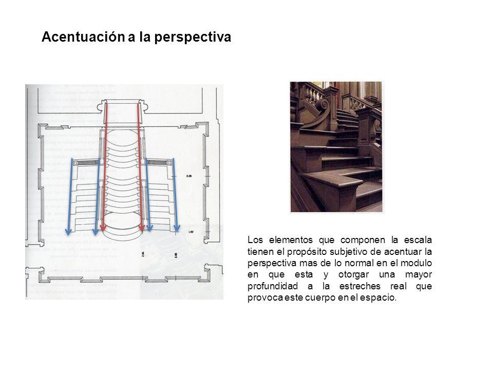 Acentuación a la perspectiva Los elementos que componen la escala tienen el propósito subjetivo de acentuar la perspectiva mas de lo normal en el modu