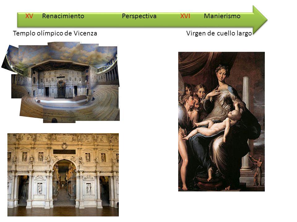 XV Renacimiento XVI Manierismo Templo olímpico de VicenzaVirgen de cuello largo Perspectiva