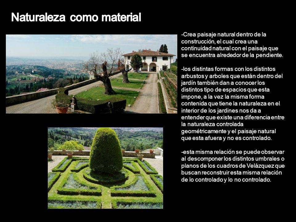 -Crea paisaje natural dentro de la construcción, el cual crea una continuidad natural con el paisaje que se encuentra alrededor de la pendiente. -los