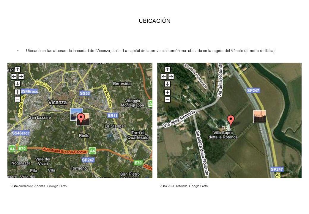 UBICACIÓN Ubicada en las afueras de la ciudad de Vicenza, Italia. La capital de la provincia homónima ubicada en la región del Véneto (al norte de Ita