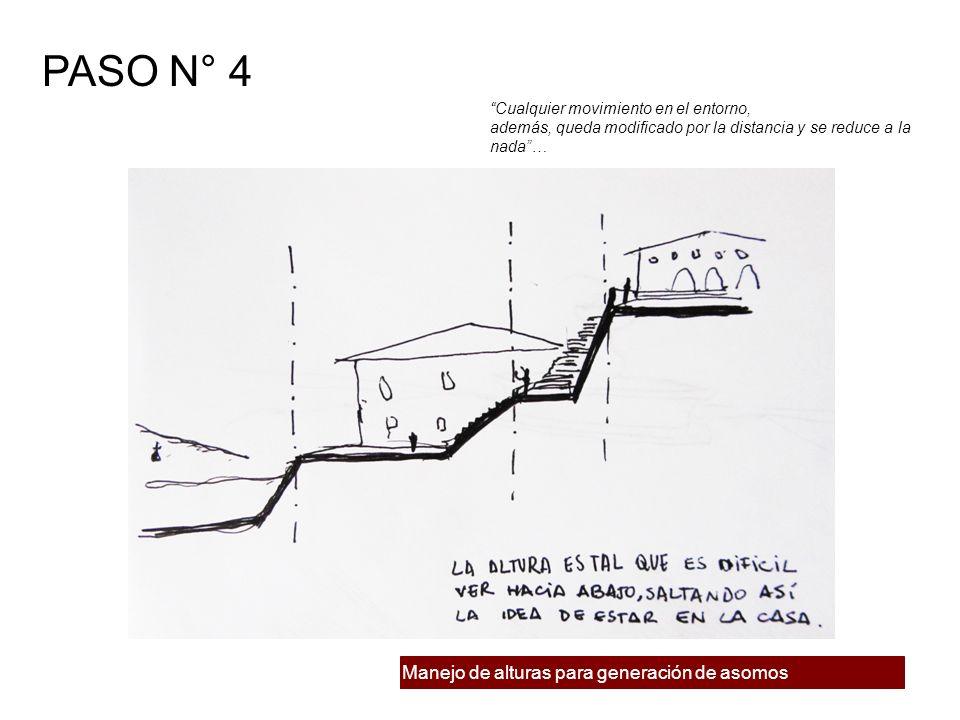 Manejo de alturas para generación de asomos PASO N° 4 Cualquier movimiento en el entorno, además, queda modificado por la distancia y se reduce a la n