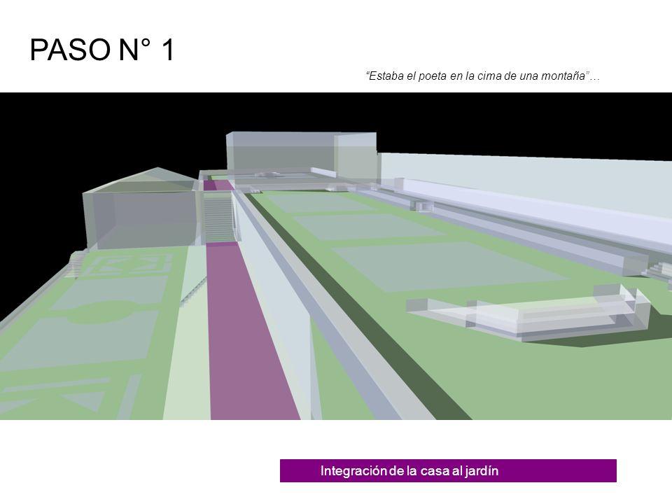 Generación de Interioridad PASO N° 2 La extrema profundidad del lugar reducía las referencias convencionales a puntos en la distancia…