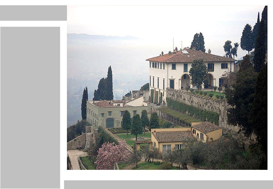 Cuerpo elemental Villa Medici de Fiesole, michelozzo di bartolomeo (1458-1462) Elevaciones Oeste