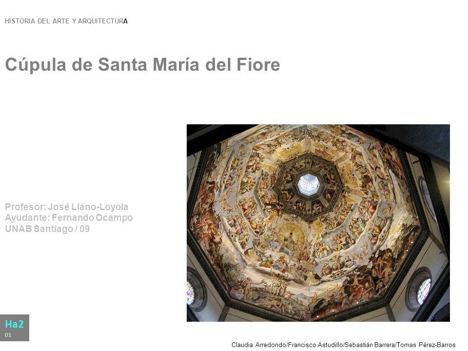 Claudia Arredondo/Francisco Astudillo/Sebastián Barrera/Tomas Pérez-Barros HISTORIA DEL ARTE Y ARQUITECTURA Cúpula de Santa María del Fiore Profesor: