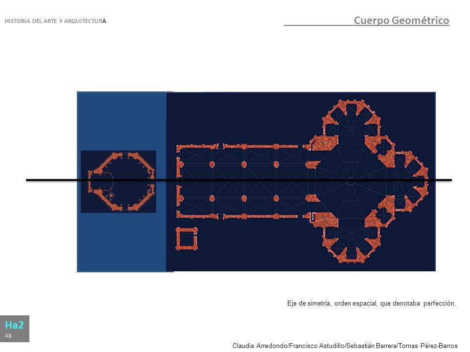 Claudia Arredondo/Francisco Astudillo/Sebastián Barrera/Tomas Pérez-Barros HISTORIA DEL ARTE Y ARQUITECTURA Ha2 48 Cuerpo Geométrico Eje de simetría,
