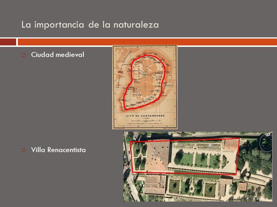 La importancia de la naturaleza Ciudad medieval Villa Renacentista