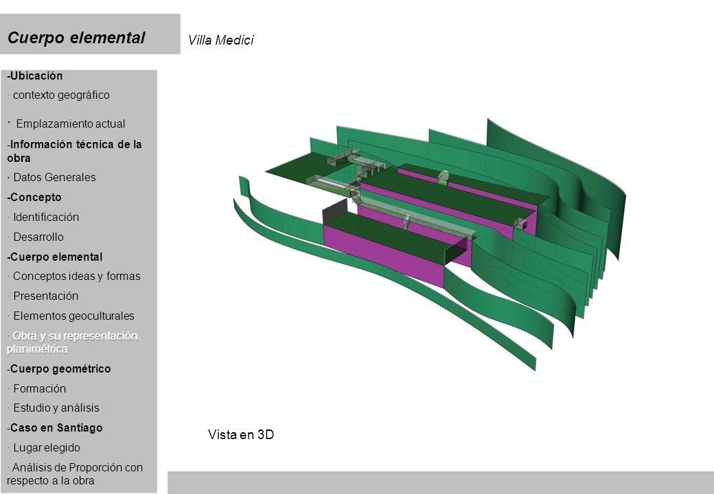 Cuerpo elemental Villa Medici Vista en 3D