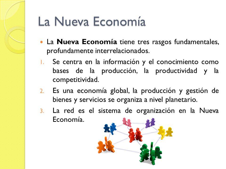 Característica de la Nueva Economía Globalización Cambios tecnológicos Diversidad cultural Cambio de expectativas sociales Espíritu emprendedor Cliente como rey