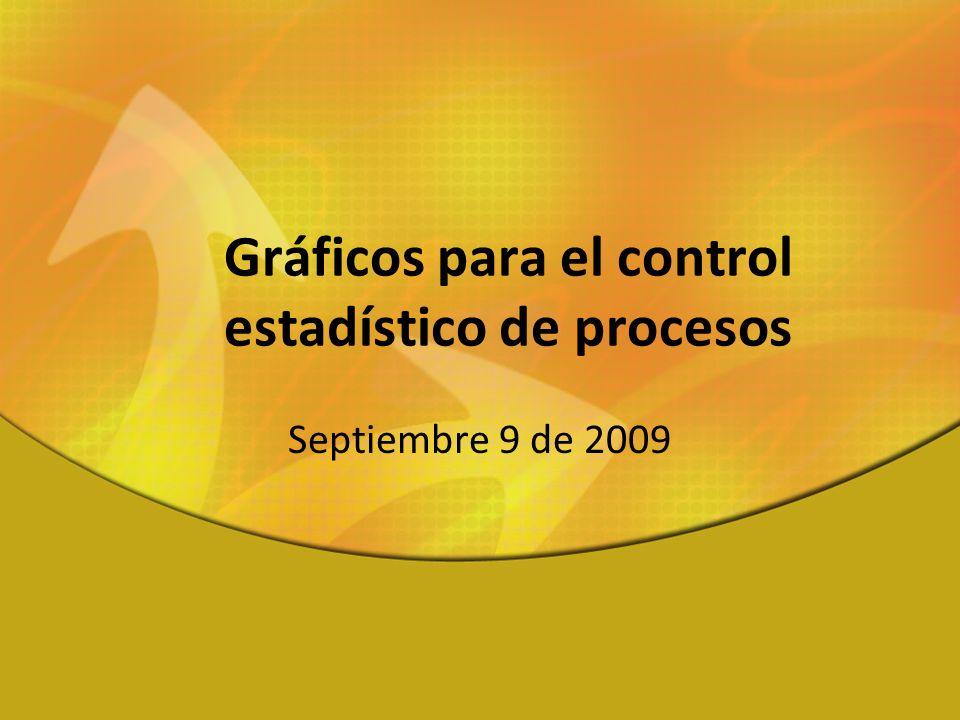 Gráficos para el control estadístico de procesos Septiembre 9 de 2009