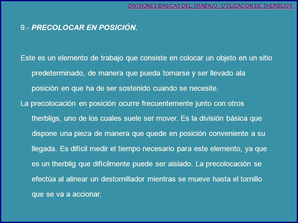 9.- PRECOLOCAR EN POSICIÓN.
