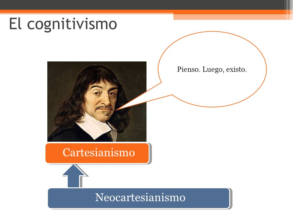 El cognitivismo Cartesianismo Pienso. Luego, existo. Neocartesianismo
