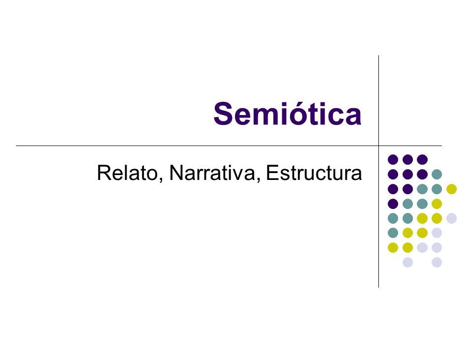 Semiótica Relato, Narrativa, Estructura