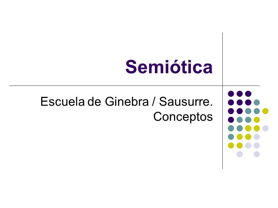 Semiótica Escuela de Ginebra / Sausurre. Conceptos