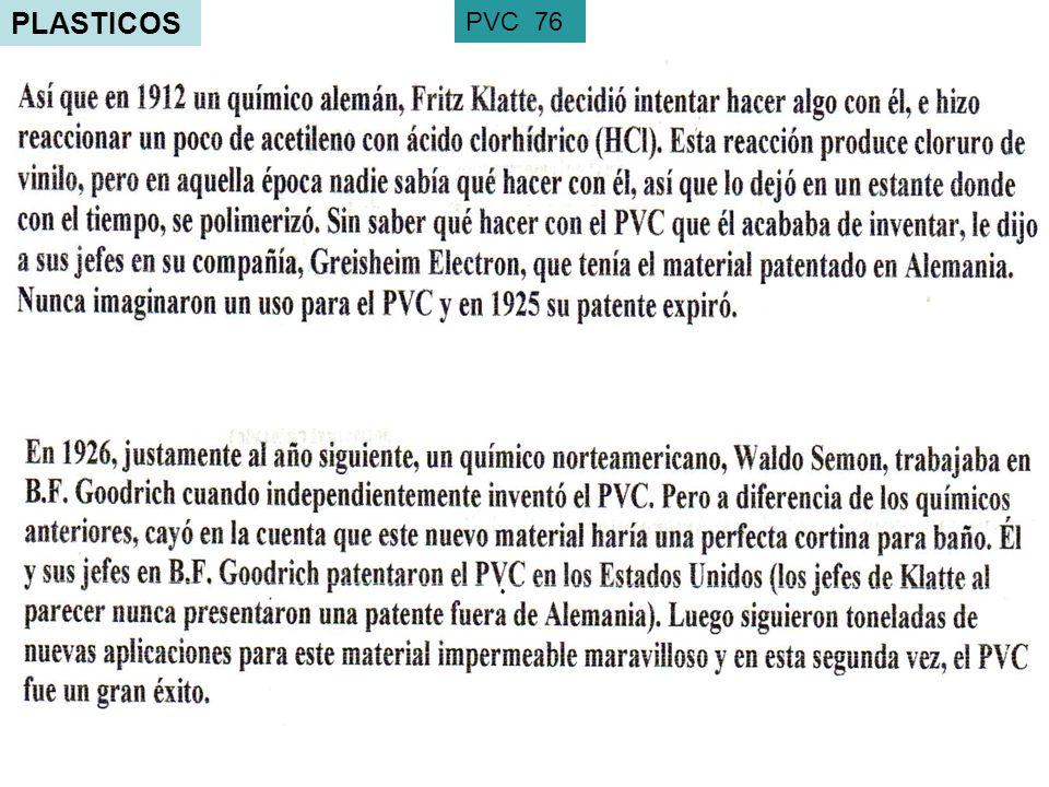 PLASTICOS PVC 76