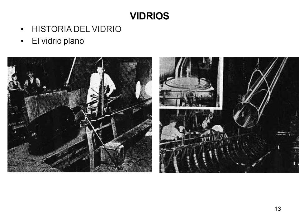 13 VIDRIOS HISTORIA DEL VIDRIO El vidrio plano