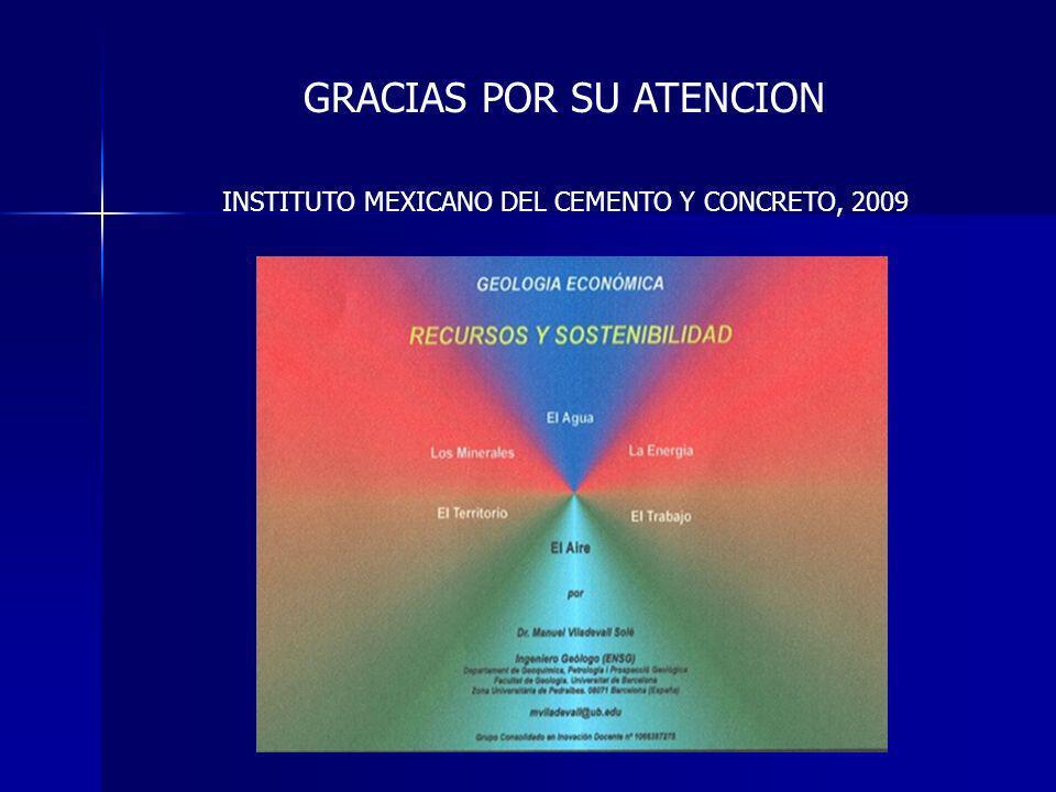 GRACIAS POR SU ATENCION INSTITUTO MEXICANO DEL CEMENTO Y CONCRETO, 2009