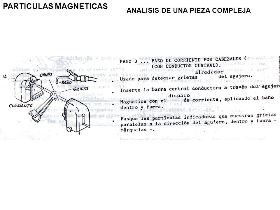 PARTICULAS MAGNETICAS ANALISIS DE UNA PIEZA COMPLEJA