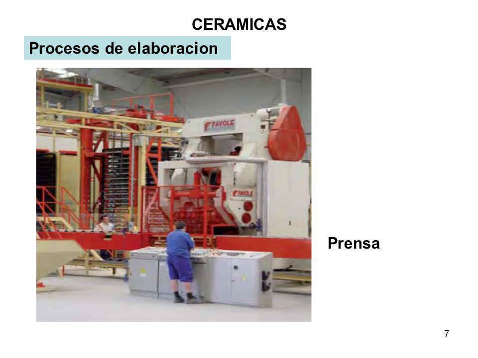 8 CERAMICAS Procesos de elaboracion Los procesos de elaboracion se clasifican en los siguientes: 1) Torneado: Consiste en una base giratoria, donde se coloca el molde, antes se giraba con los pies, ahora tienen motor con un embrague.
