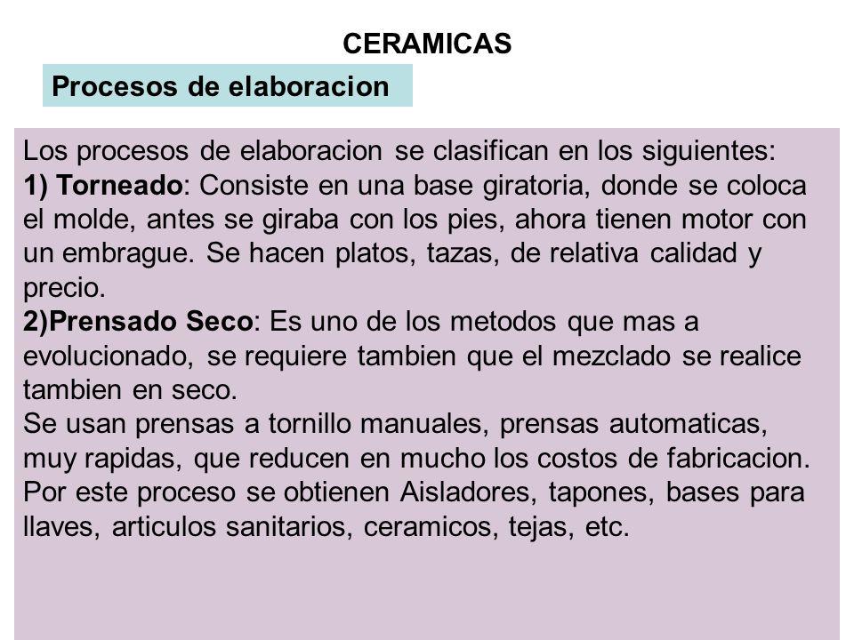 19 CERAMICAS CLASIFICACION DE LAS MATERIALES BALDOSAS: Su elaboración es similar a los ladrillos y tejas, se cocinan en hornos de tunel, normalmente se esmaltan y vitrifican.