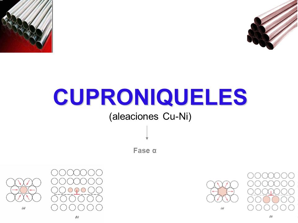 CUPRONIQUELES (aleaciones Cu-Ni) Fase α