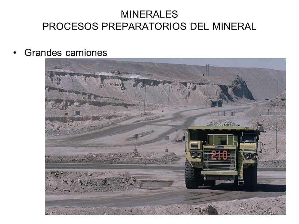 13 MINERALES PROCESOS PREPARATORIOS DEL MINERAL Grandes camiones
