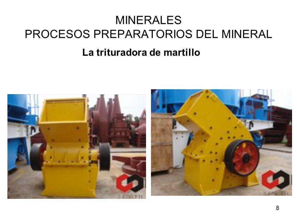 8 MINERALES PROCESOS PREPARATORIOS DEL MINERAL La trituradora de martillo
