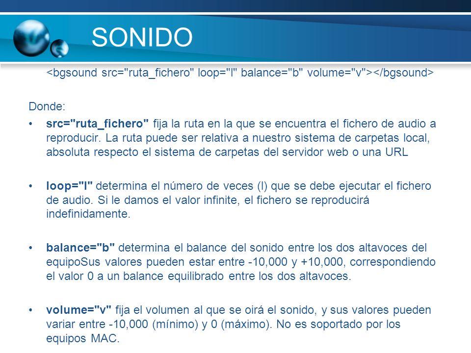 SONIDO Donde: src=