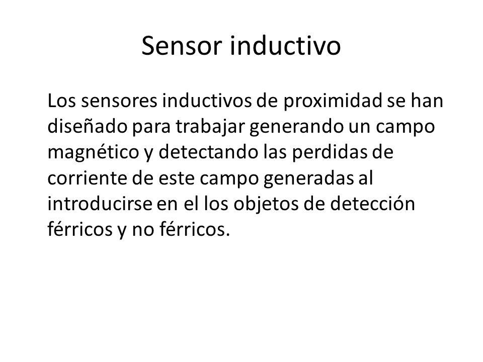 Sensor inductivo Los sensores inductivos de proximidad se han diseñado para trabajar generando un campo magnético y detectando las perdidas de corrien