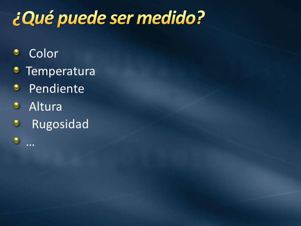 Color Temperatura Pendiente Altura Rugosidad …