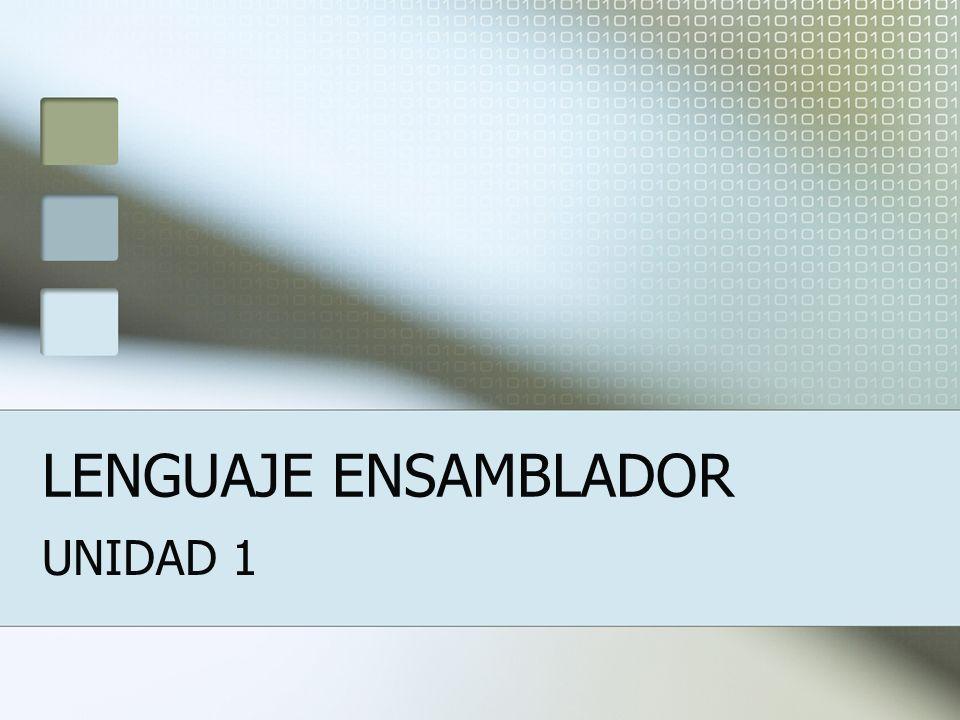 LENGUAJE ENSAMBLADOR UNIDAD 1