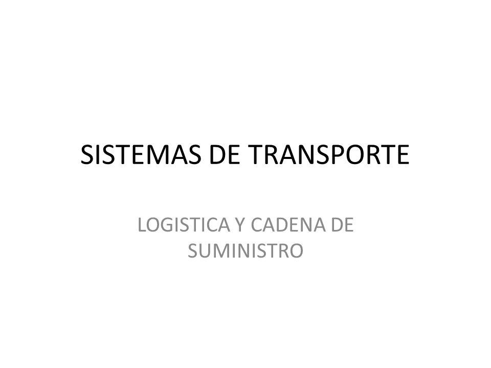 SISTEMAS DE TRANSPORTE LOGISTICA Y CADENA DE SUMINISTRO