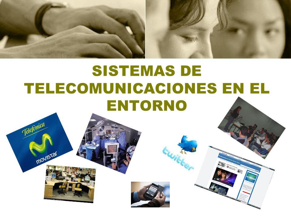 SISTEMAS DE TELECOMUNICACIONES EN EL ENTORNO