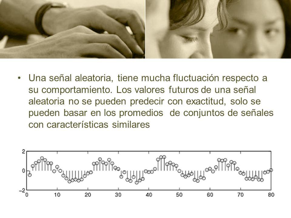 Una señal aleatoria, tiene mucha fluctuación respecto a su comportamiento. Los valores futuros de una señal aleatoria no se pueden predecir con exacti