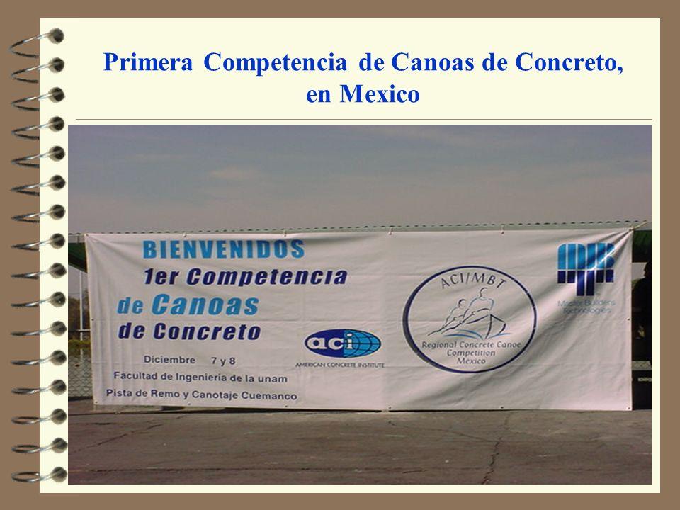 Primera Competencia de Canoas de Concreto, en Mexico