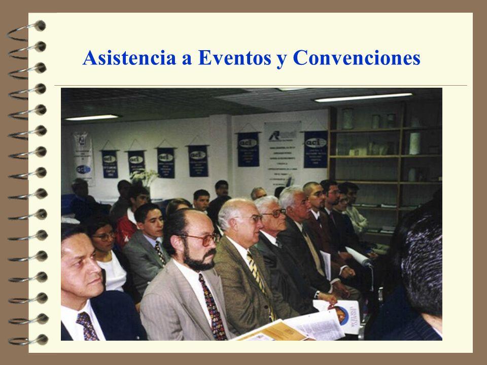 Asistencia a Eventos y Convenciones
