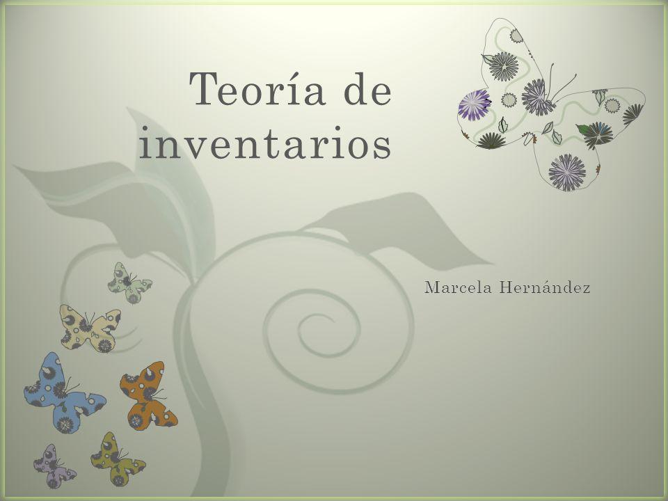 7 Teoría de inventarios