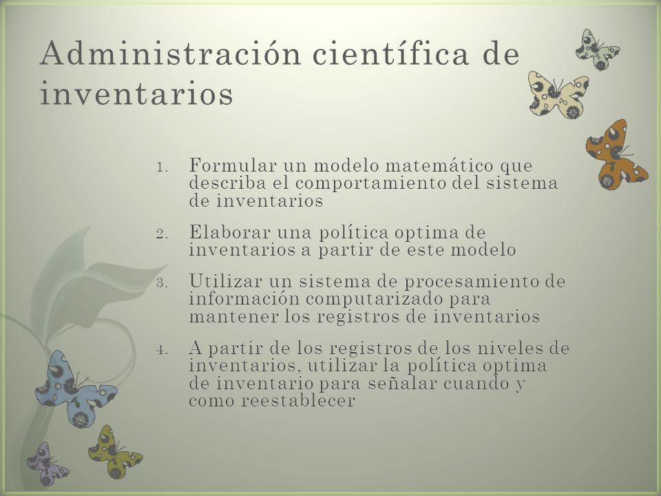 Administración científica de inventarios