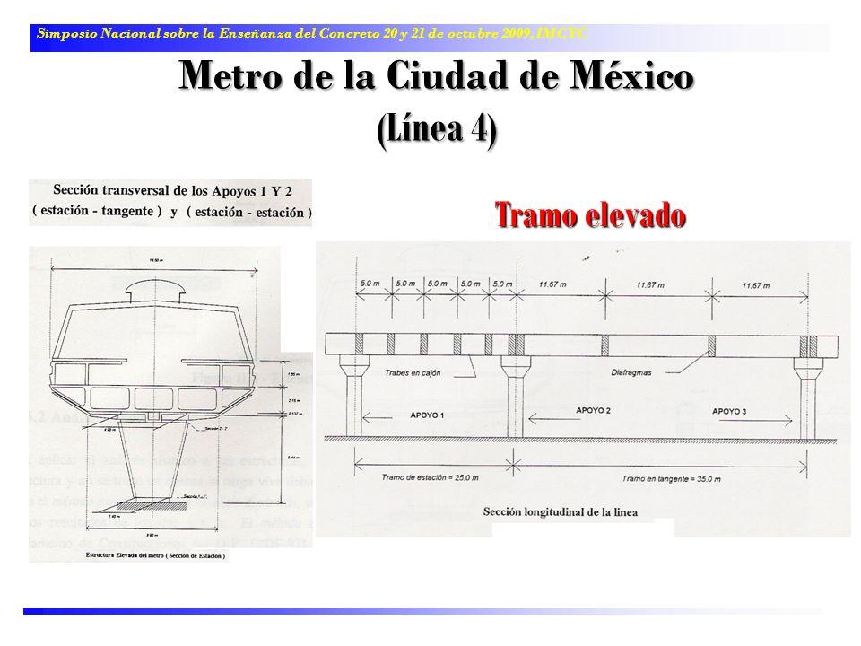 Simposio Nacional sobre la Enseñanza del Concreto 20 y 21 de octubre 2009, IMCYC Metro de la Ciudad de México (Línea 4) Tramo elevado