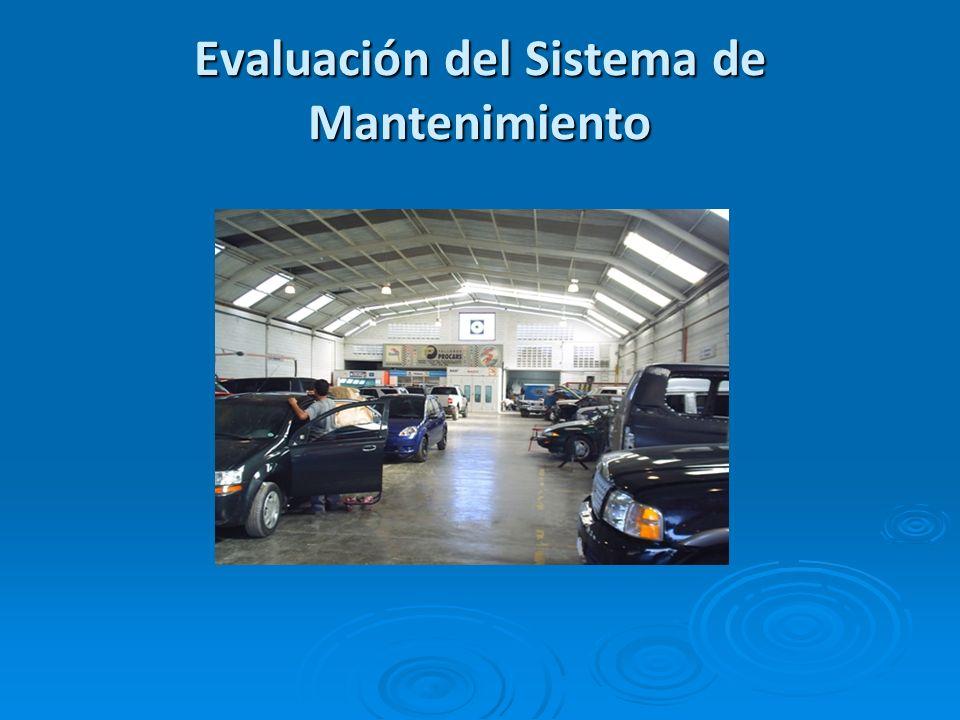 Evaluación del Sistema de Mantenimiento